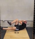 Alternate Straight-Leg Crunch